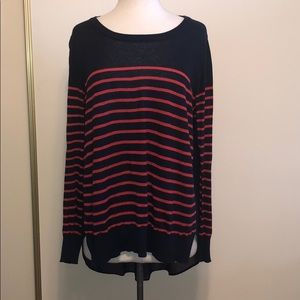 Vici striped, sheer back tunic